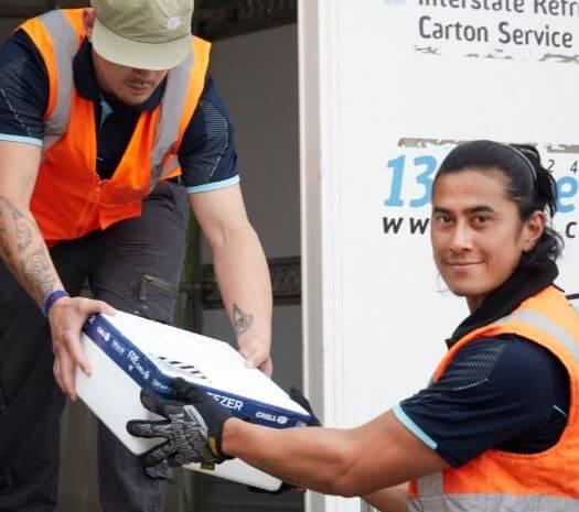 Chill-warehouse-staff-carton-delivery-truck